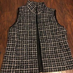 Black & White Puff Vest